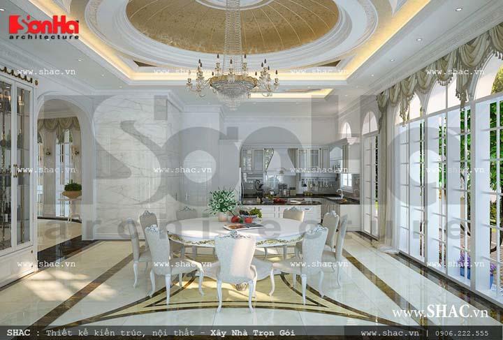 Thiết kế nội thất phòng bếp cổ điển Pháp