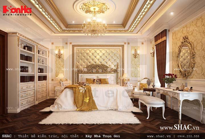 Các mẫu nội thất phòng ngủ cổ điển Pháp đẹp lộng lẫy