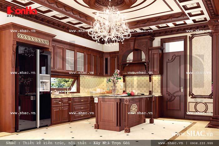 Tổng hợp các mẫu thiết kế nội thất bếp ăn cổ điển Pháp đẹp tiện nghi