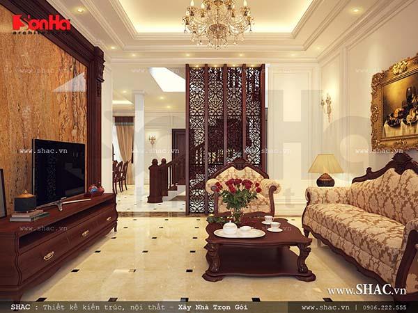 Nội thất cổ điển sang trọng cho ngôi biệt thự Pháp 3 tầng