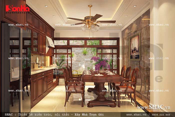 Nội thất phòng bếp ăn cổ điển Pháp sang trọng của SHAC