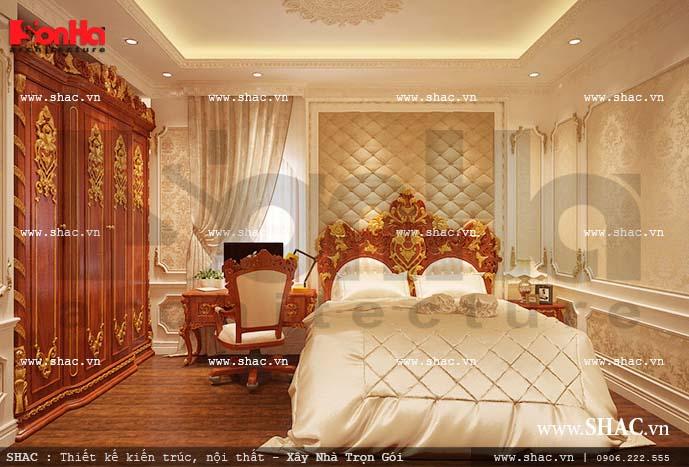 Phòng ngủ thiết kế theo phong cách cổ điển Châu Âu đẹp sang trọng