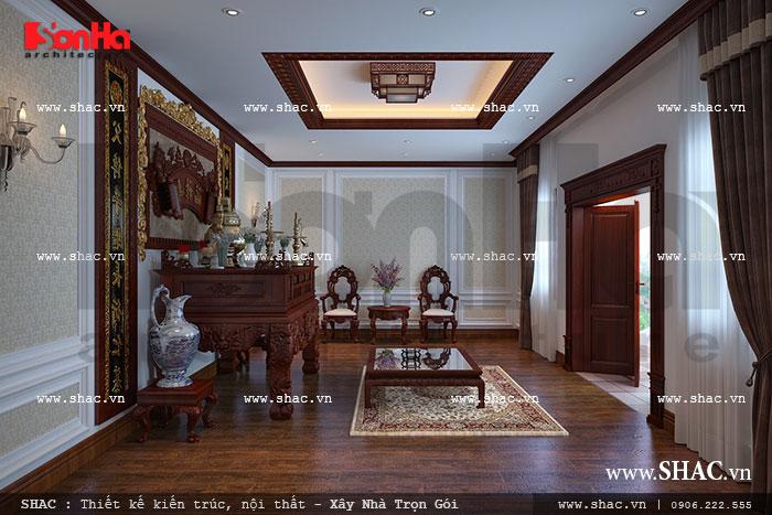 Sưu tầm các mẫu thiết kế nội thất phòng thờ cổ điển Pháp