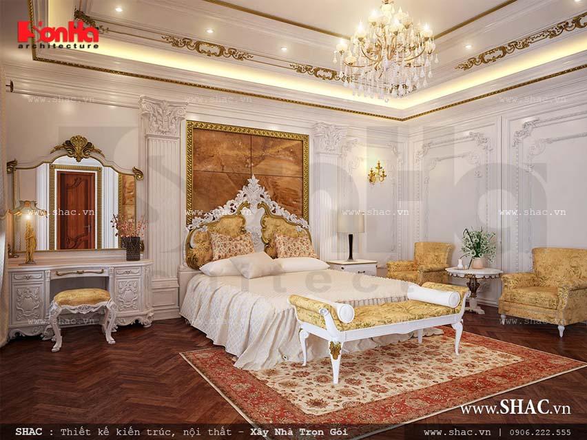 Phòng ngủ nội thất Pháp đẹp của biệt thự SH BTP 0042