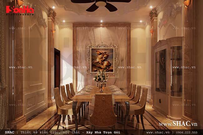 Chiêm ngưỡng 10 mẫu nội thất phòng ăn cổ điển Pháp sang trọng của SHAC