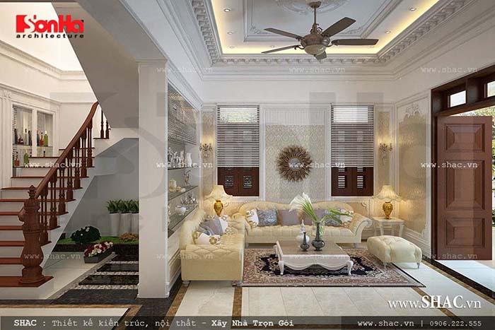 Phòng khách nội thất phong cách Pháp ấn tượng của SHAC