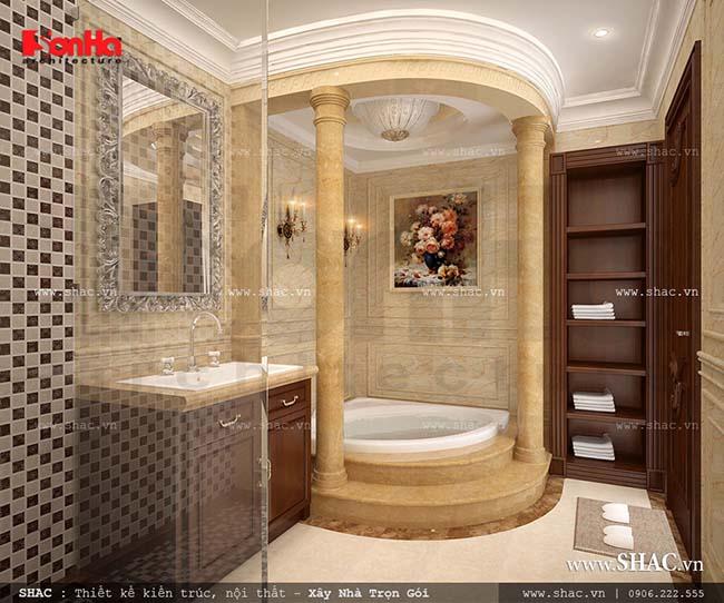 Nội thất phòng tắm cổ điển sang trọng của SHAC